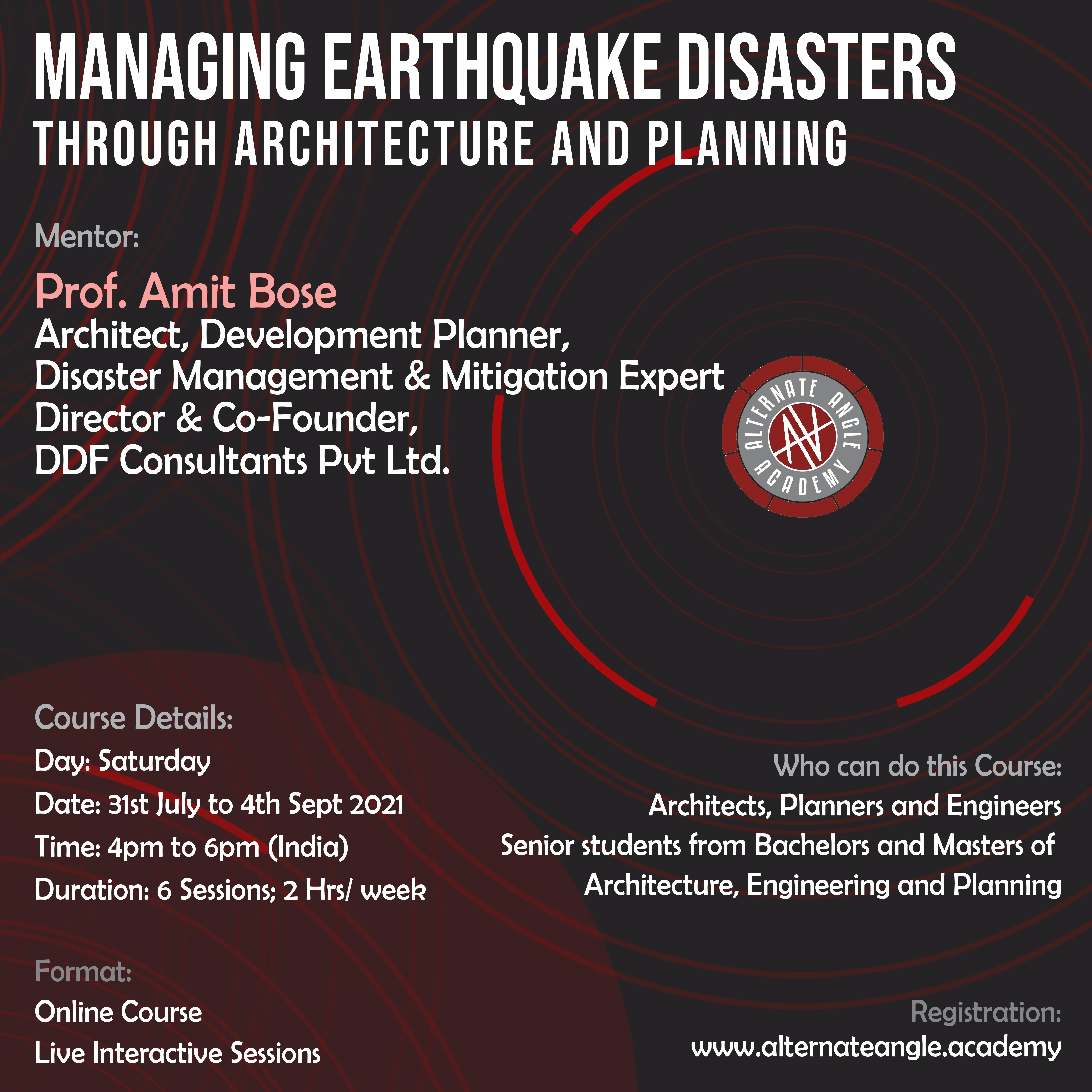 CEP02- Managing Earthquake Disasters through Architecture and Planning
