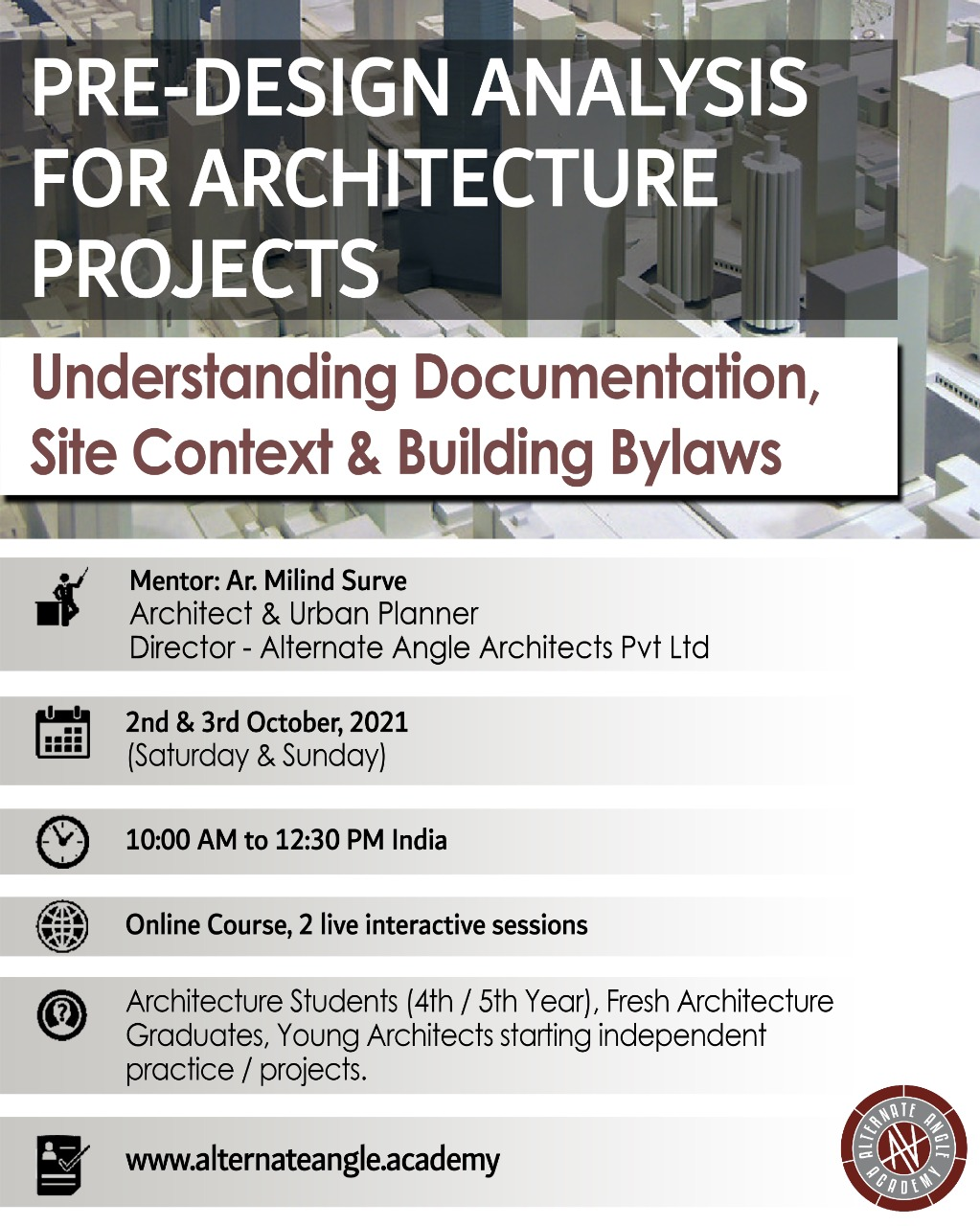Pre-Design Analysis for Architecture Projects